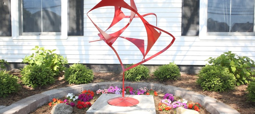 "Title: UNDULATION  Artists: Dean Steiner & Blair Rieckmann Size: 64"" t x 48"" w x 38"" d: Material: Sculpture made of Steel Price: $ 2,400.00"