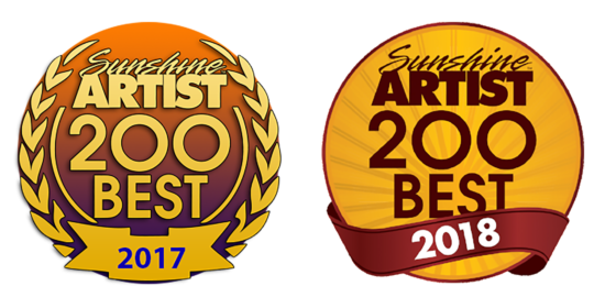 2017 and 2018 Sunshine Artist 200 best logos