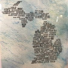 blue michigan print
